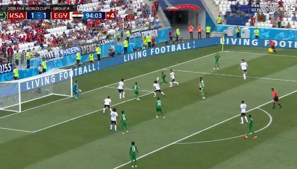 Arabia Saudita ganó en su último partido en Rusia 2018 ante Egipto. (Foto: FIFA/Fuente: Fox Sports)