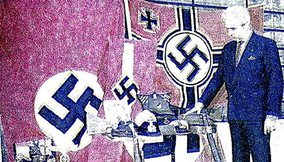 """El 11 de octubre de 1970, El Comercio dio a conocer que el peruano César Ugarte Salomone había luchado de manera extraordinaria en la Segunda Guerra Mundial. En el feroz conflicto consiguió """"trofeos de guerra"""" que guardó celosamente en la casa de su suegra, en Miraflores. (Foto: GEC Archivo Histórico)"""