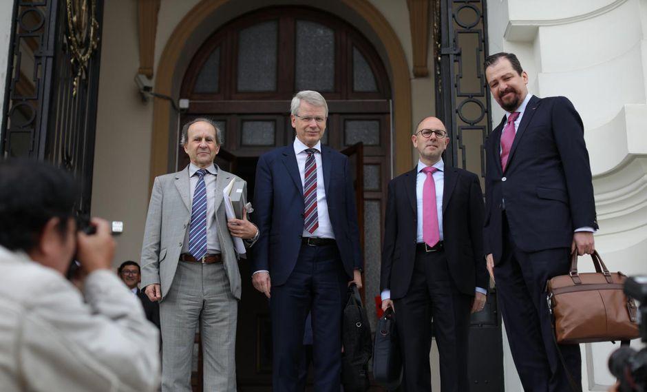 Relatores de la Comisión de Venecia estuvieron en Lima en setiembre pasado y participaron de una sesión de la Comisión de Constitución. (Foto: Anthony Niño de Guzmán)