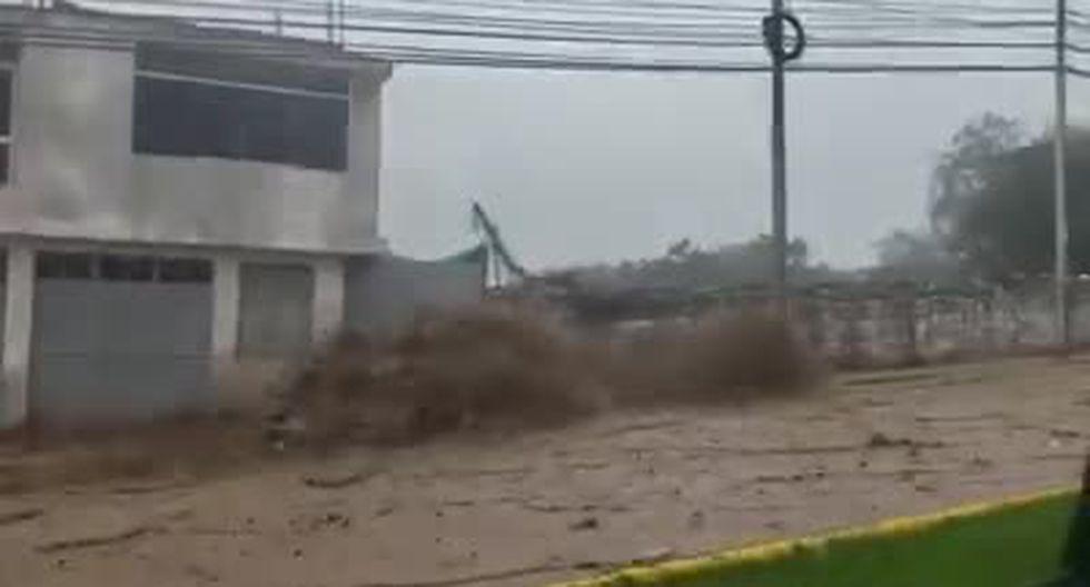 Huaico fue grabado por los vecinos. (Foto: Captura de pantalla / Video: Facebook)