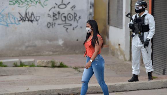 La libre circulación de personas será limitada durante la cuarentena por localidades en Bogotá.(Foto: AFP / Raúl Arboleda)