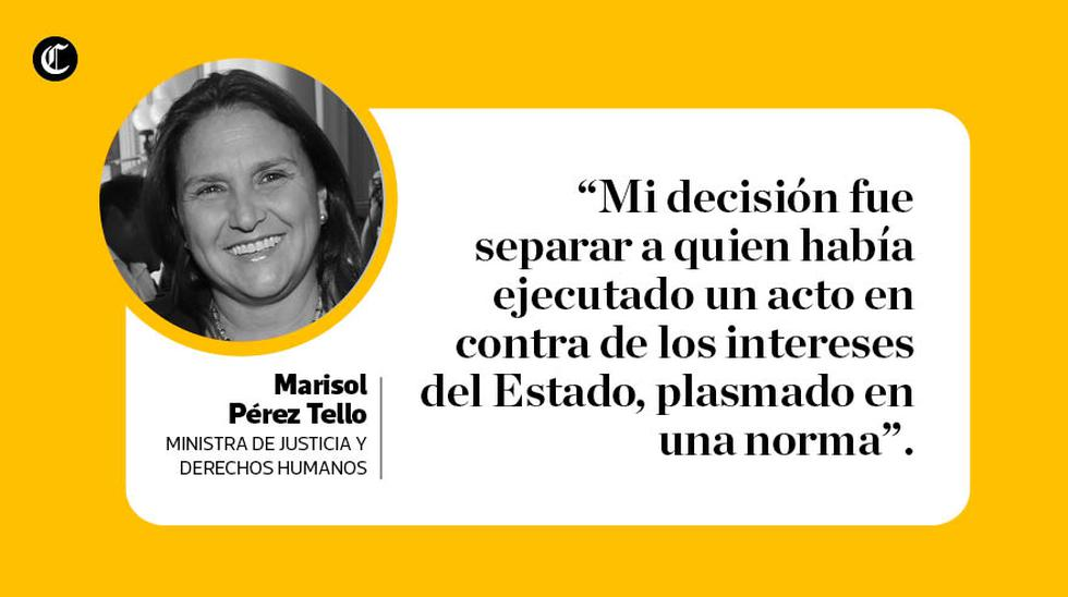Marisol Pérez Tello (Elaboración: El Comercio)