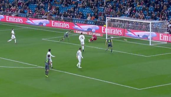 Brillante jugada colectiva de la Real Sociedad: en tres toques rompió el bloque defensivo del Real Madrid para remecer las redes. (Foto: captura de video)