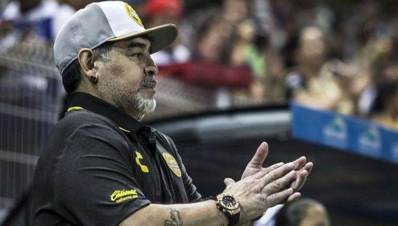 """El ex campeón mundial, Diego Maradona, enfatizó sobre las declaraciones que tuvo sobre 'La Pulga'. El 'Pelusa' precisó que """"yo nunca nombré a Lionel Messi"""" (Foto: agencias)"""