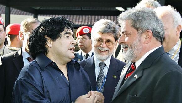 El expresidente brasileño Luiz Inácio Lula da Silva lamentó la muerte de Diego Armando Maradona. (Twitter @LulaOficial).