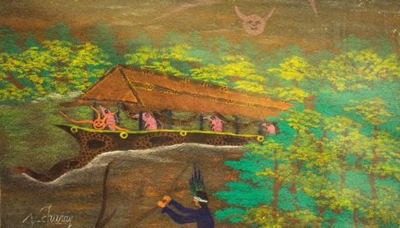 """""""La lancha fantasma"""" (2000), de Víctor Churay, una de las obras que se mostrará en la miniserie """"Ama/zonas de mitos y visiones"""", dirigida por Christian Bendayán. Colección Museo Central-BCRP"""