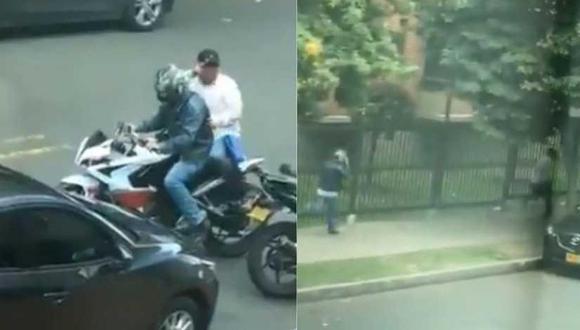 El noticiero del canal City TV reveló otras imágenes que muestran cómo, cuadras adelante, los dos hombres fueron capturados por una patrulla de la policía. (Foto: El Tiempo)