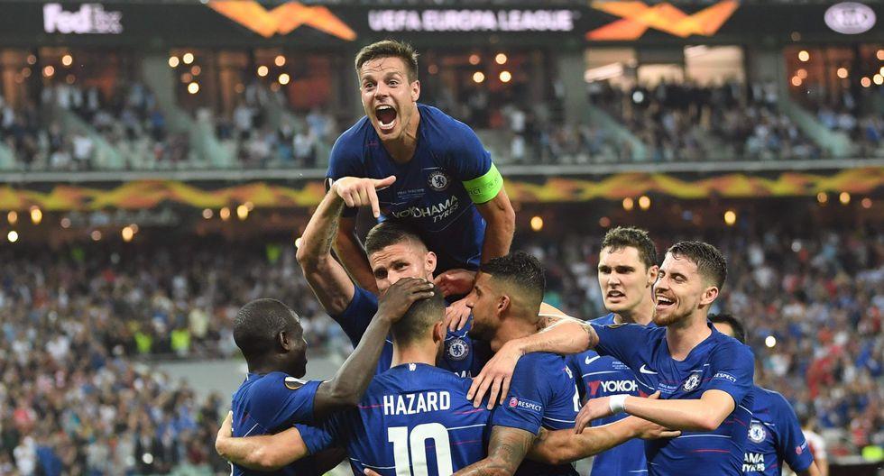 N'Golo Kanté fue parte del equipo del Chelsea que goleó 4-1 al Arsenal, con doblete de Hazard, y se coronó campeón de la Europa League. (Foto: AFP)
