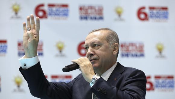 El presidente de Turquía, Recep Tayyip Erdogan. AP
