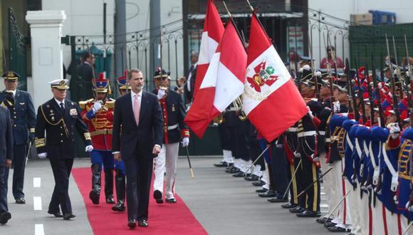 El Rey de España, Felipe VI, en su visita a Perú en su visita en noviembre del 2018. (Foto: Anthony Niño de Guzmán / El Comercio)
