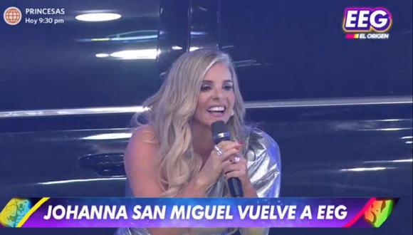 """Johanna San Miguel regresó a la conducción de """"Esto es guerra"""". (Foto: Captura América TV)"""