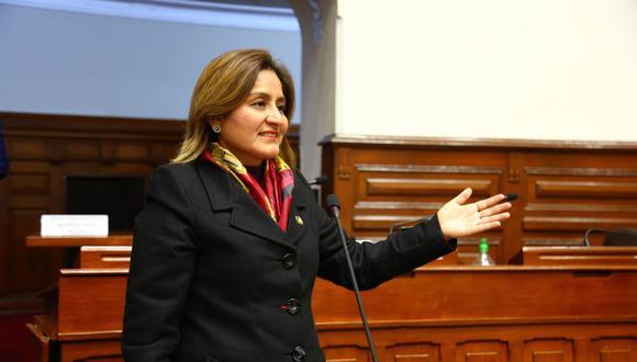 La parlamentaria Tania Rodas era quien representaba a Alianza para el Progreso en la comisión especial para el TC. (Foto: Congreso)