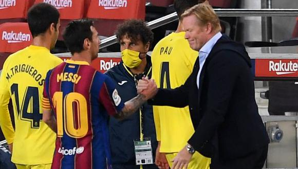 Koeman contradijo a Setién por el tema Lionel Messi en Barcelona. (Foto: AFP)