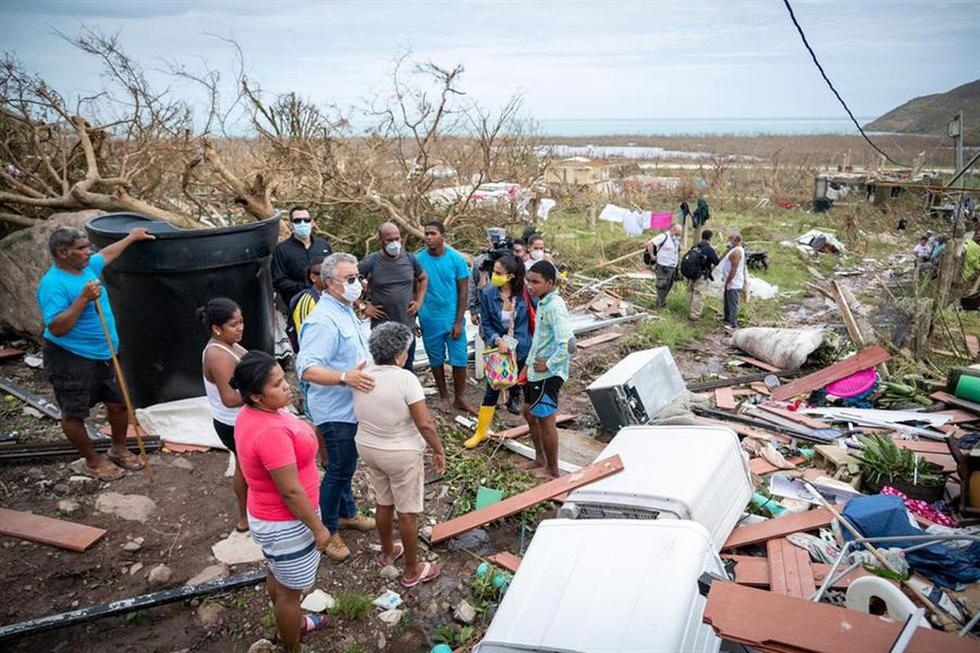 El huracán Iota destruyó la infraestructura de Providencia y dejó al menos dos muertos y un desaparecido. (EFE).