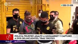 SMP: Policías frustran asalto a minimarket tras balacera