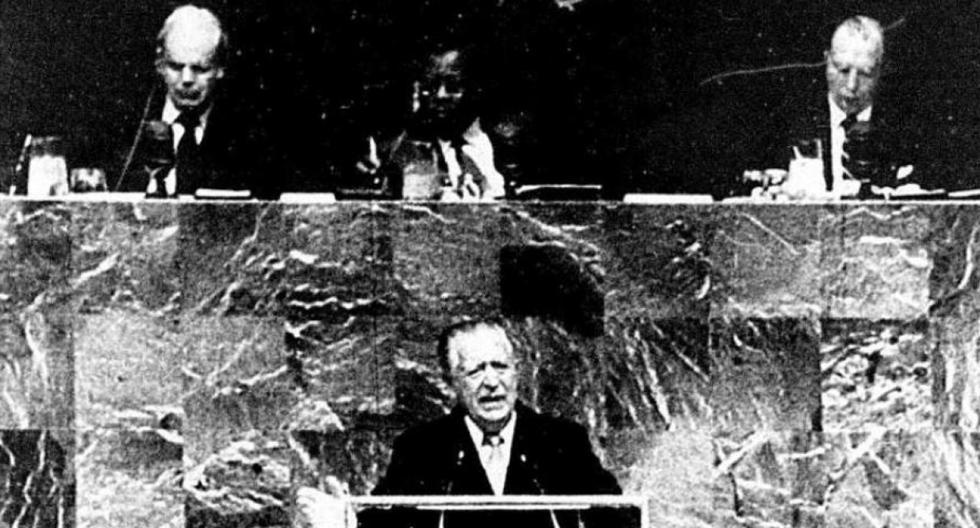 Belaunde Terry abordó el problema de la amenaza terrorista y el colonialismo financiero. (Foto: GEC Archivo Histórico)