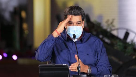 El presidente venezolano Nicolás Maduro habla durante una conferencia de prensa en Caracas, Venezuela, el 18 de octubre de 2020. (EFE).