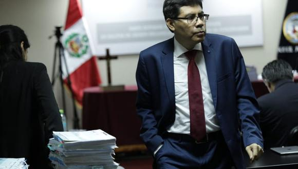 Fiscal Germán Juárez sustentó pedido de prisión preventiva contra Guillermo Paredes, hermano del ex ministro humalista Carlos Paredes (Foto: Antonhy Niño de Guzmán).