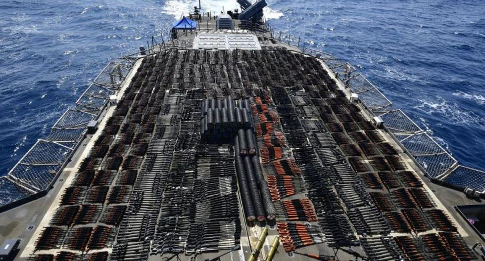 US Navy intercepts cache of thousands of Russian and Chinese weapons in Arabian Sea