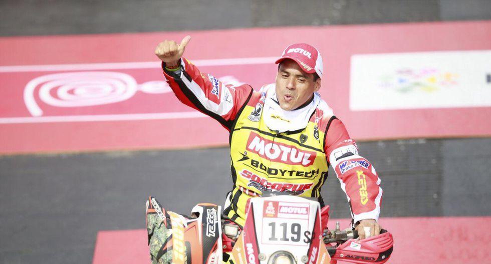 Lalo Burga ha sido uno de los motociclistas peruanos que ha culminado la primera etapa. (Foto: ITEA Photo)
