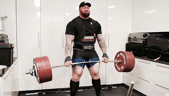 Hafþór Júlíus Björnsson superó por un kilo la marca del británico Eddie Hall. (Foto: Instagram)