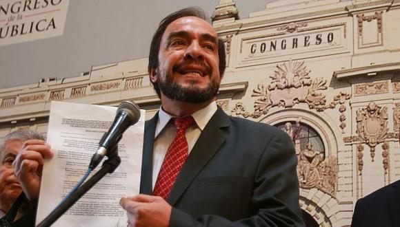 El excongresista Yonhy Lescano lidera los resultados de las elecciones internas de Acción Popular según la ONPE. (Foto: GEC)