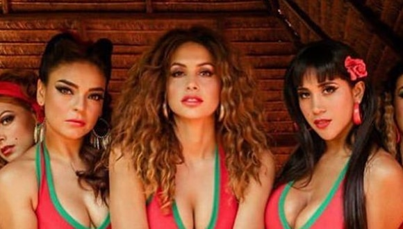 Cielo Torres, Milett Figueroa y Melissa Paredes en el elenco de 'Pantaleón y las visitadoras', el musical.