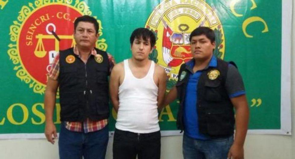 Jean Carlos Castro Bazán fue capturado en febrero de 2017 en Chiclayo. (PNP)