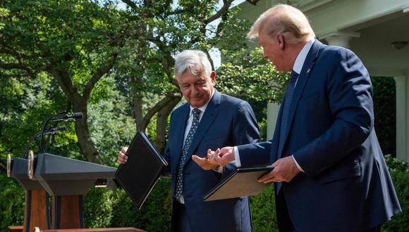 La semana pasada, el presidente de México, Andrés Manuel López Obrador visitó en la Casa Blanca a su homólogo estadounidense, Donald Trump. (AFP)