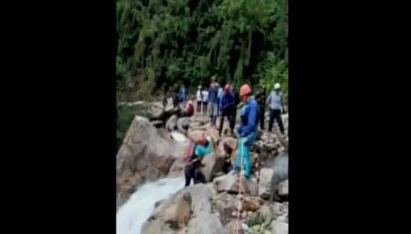 Cuerpo de turista mexicano fue encontrado esta mañana, tras caer en río ubicado en la zona de Chaullay en la provincia de La Convención (Cusco). (Captura: Canal N)