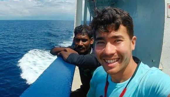 El 21 de octubre, John Chau publicó una foto en Instagram de su viaje por el Océano Índico.