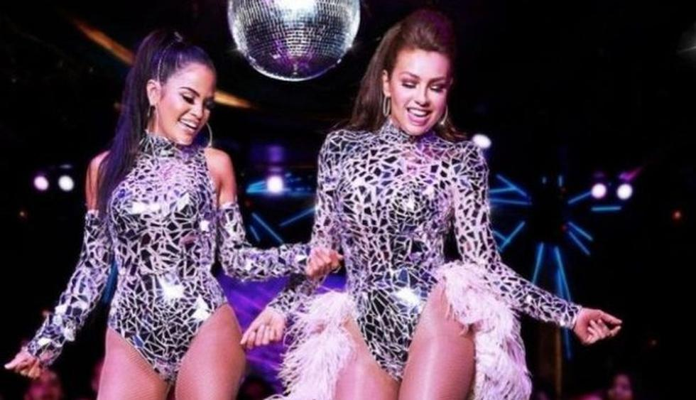 """Natti Natasha celebra con Thalía el éxito de """"No me acuerdo"""" en YouTube. (Imagen: Captura YouTube)"""