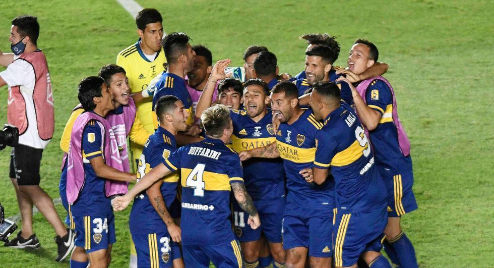 Boca Juniors vs. Banfield: las imágenes del duelo en el Estadio San Juan del Bicentenario | Foto: REUTERS