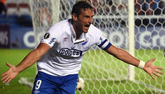 Gonzalo Bergessio anotó 23 goles en la temporada 2019 con el Nacional de Uruguay. (Foto: AFP)