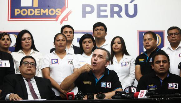 Daniel Urresti obtuvo 558,763 votos preferenciales de los 1′240,716 que sumó su partido en total, es decir, casi la mitad. (Foto: GEC)