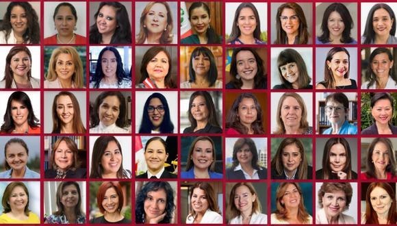 """Más de 50 mujeres líderes en diferentes rubros participan en el libro """"Mujeres en el bicentenario"""", publicado por la asociación WomenCEO Perú."""