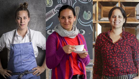 De izquierda a derecha: Pía León abrió Kjolle y además fue elegida Mejor Chef Mujer por los votantes de la lista Latin America's 50 Best Restaurants. La filósofa y cocinera Karissa Becerra fue una de los 10 finalistas del Basque Culinary World Prize 2018, junto con Virgilio Martínez. La chef de Matria, Arlette Eulert, fue elegida Mejor Chef Mujer por los premios Summum. Fotos: Maricé Castañeda, Nancy Chappell, Giancarlo Shibayama.