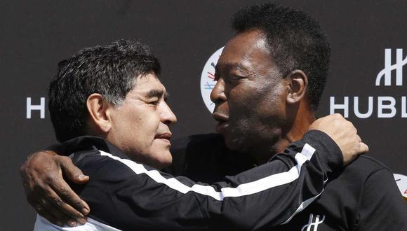 Pelé escribió una emotiva carta a Diego Maradona, a una semana del fallecimiento del argentino. (Foto: AFP)