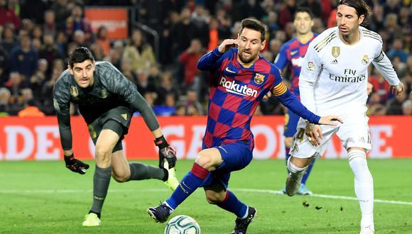 Thibaut Courtois habló en la previa del Real Madrid vs. Barcelona por LaLiga   Foto: AFP