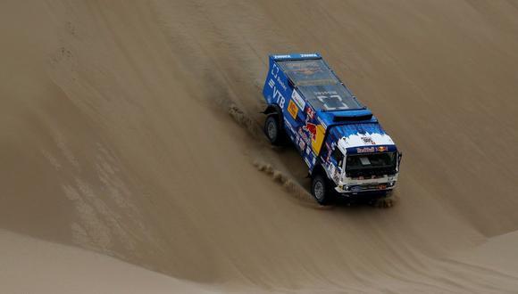 Victoria para Eduard Nikolaev en la categoría de camiones. (Foto: Reuters)