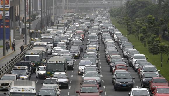 Alto tráfico en Lima