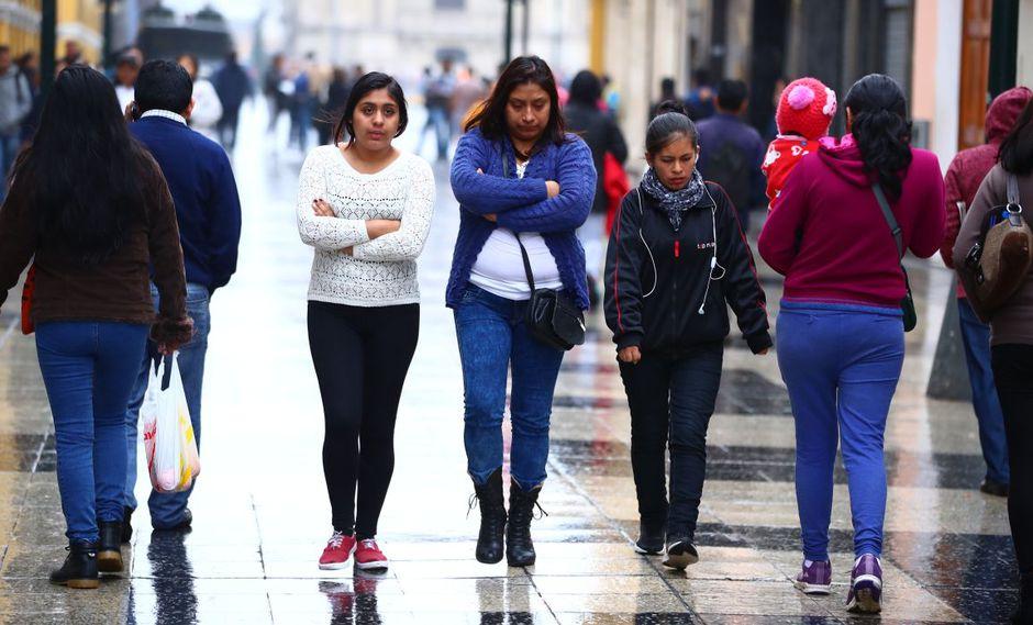 Las bajas temperaturas en Lima se mantienen durante el invierno. (GEC)