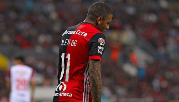 """La 'Hiena' destacó el año pasado con la 'U'. Ahora su presente es completamente distinto en Atlas. No ha marcado goles y el presidente dijo que """"Alexi Gómez nos ha quedado a deber"""". (Foto: Imago7)"""