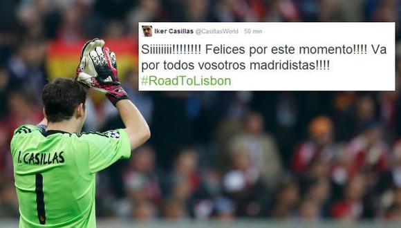 Jugadores de Real Madrid comparten clasificación por twitter