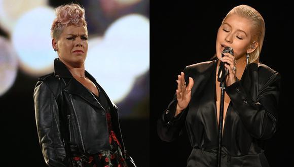 AMAs 2017: Pink habla sobre el gesto que hizo durante show de Christina Aguilera