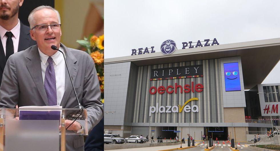 Carlos Rodríguez Pastor, cabeza del grupo Intercorp, precisó que el área de Real Plaza Puruchuco  equivale a casi tres veces el Estadio Nacional. (Foto: Manuel Melgar/GEC)