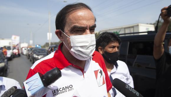 Yonhy Lescano indicó que conversará con la candidata a la vicepresidencia para conocer los detalles de la situación. (Foto: Archivo GEC)