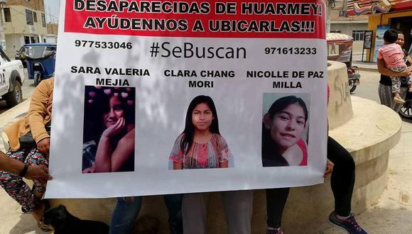 Las autoridades han pedido que si la población sabe del paradero de las menores puedan comunicarse a la comisaría de Huarmey al número 043400245