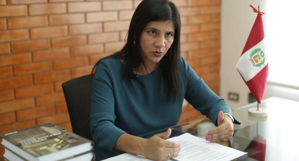 Silvana Carrión asumió el cargo de procuradora tras la salida de Jorge Ramírez en febrero pasado. (Foto: Antonhy Niño de Guzmán)