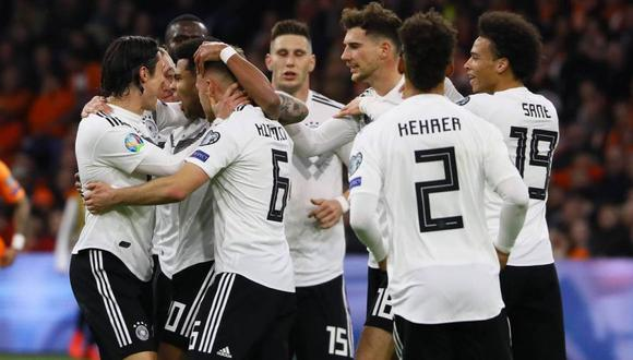Alemania se impuso por 3-2 a Holanda en un electrizante partido por las Eliminatorias rumbo a la Eurocopa 2020 (Foto: AFP)